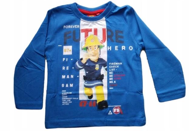 Bluzka bluza t-shirt bawełna STRAŻAK SAM 122 7 lat 8964019310 Dziecięce Odzież PH EDCQPH-3