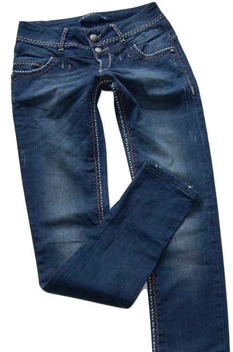 8K03 spodnie rurki jeansy CIPO&BAXX 27/32 9590981635 Odzież Damska Jeansy BE DEEXBE-2