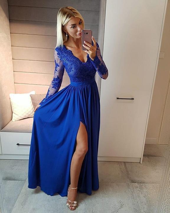 Lula KARMELOWA SUKIENKA z KORONKOWĄ GÓRĄ XL 9769653085 Odzież Damska Sukienki wieczorowe JU GFZGJU-9