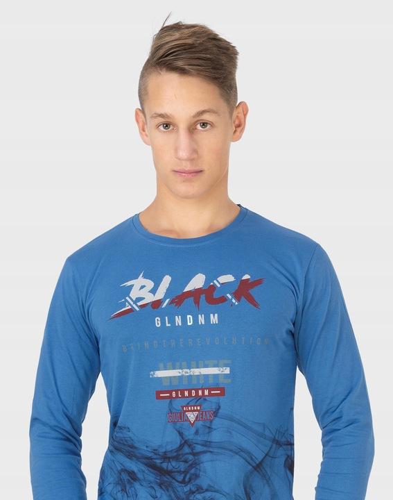 Koszulka Męska z Długim Rękawem Long 1003-08 r M 7532011702 Odzież Męska Koszulki z długim rękawem NG JWADNG-6