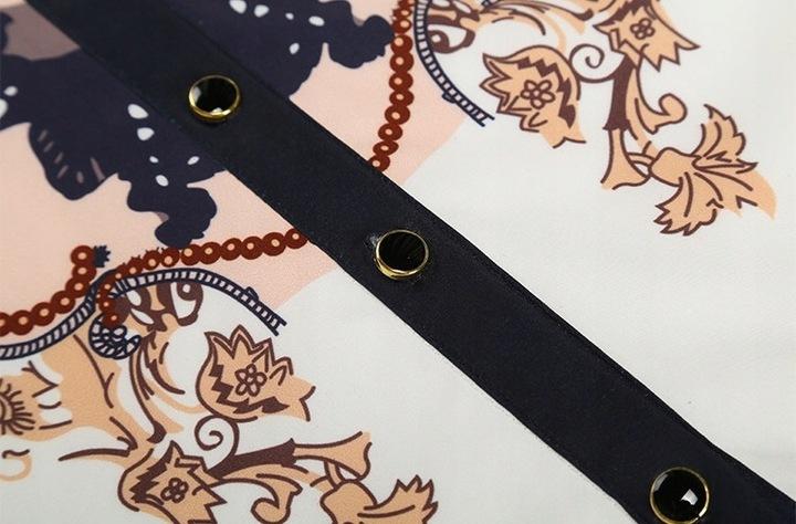 Women's shirt oriental ornaments black XXL 9664447052 Odzież Damska Topy BW DFUIBW-9