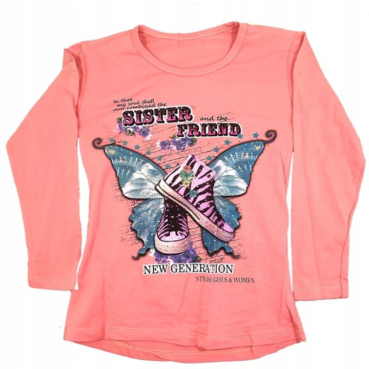 WYPRZEDAŻ Promocja Bluzka Tunika długi rękaw 122 7561841886 Dziecięce Odzież GN NTYGGN-5