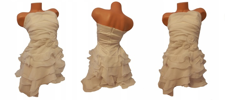 Biała sukienka letnia, wieczorowa 38/40 8474423324 Odzież Damska Sukienki wieczorowe AR TTRBAR-2